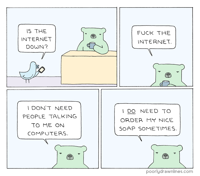 Poorly Drawn Lines – Internet Down